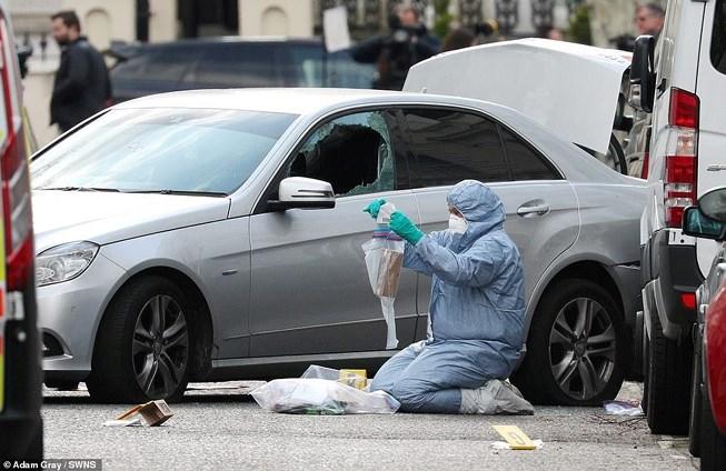 Cảnh sát Anh nổ súng bắt nghi phạm đâm liên tiếp vào xe của đại sứ Ukraine - Ảnh 1