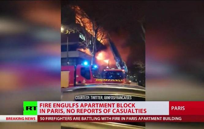 Hoả hoạn thiêu rụi 27 căn hộ ở thủ đô Paris trong đêm - Ảnh 1