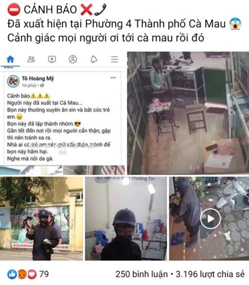 """Triệu tập cô gái 9x tung tin đồn người ăn xin mặt đen xuất hiện tại Cà Mau để """"câu like"""" - ảnh 1"""