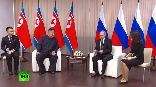 Toàn cảnh hội nghị thượng đỉnh đầu tiên giữa ông Putin và ông Kim Jong-un  - Ảnh 4