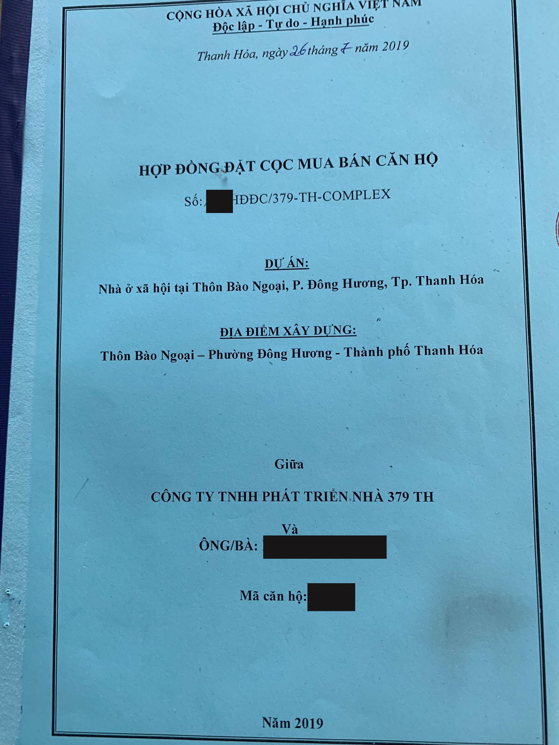 Sốt ruột chờ đợi hợp đồng mua bán dự án nhà ở xã hội 379 Thanh Hóa - ảnh 1