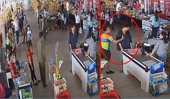 Xác minh người đàn ông ném đồ, tát nhân viên bán hàng khi con trai mua đồ không trả tiền - ảnh 1