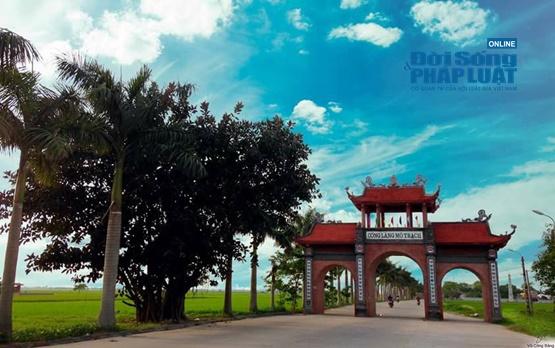 """Làng Mộ Trạch, huyện Bình Giang, tỉnh Hải Dương nổi tiếng là đất khoa bảng và được mệnh danh là """"Làng tiến sĩ xứ Đông"""". Ảnh: Bằng Vũ"""
