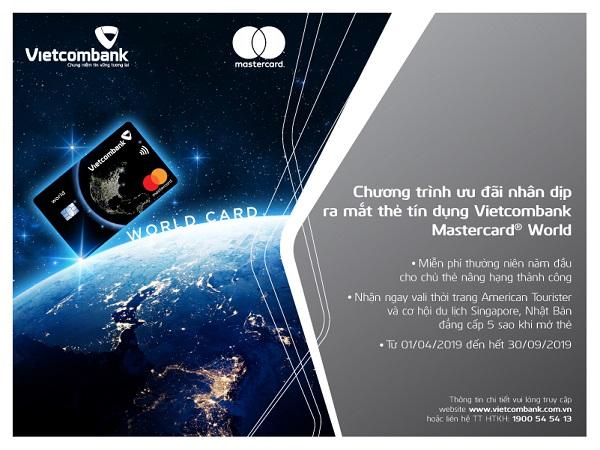 Khuyến mãi hấp dẫn nhân dịp ra mắt thẻ Vietcombank Mastercard World - Ảnh 1