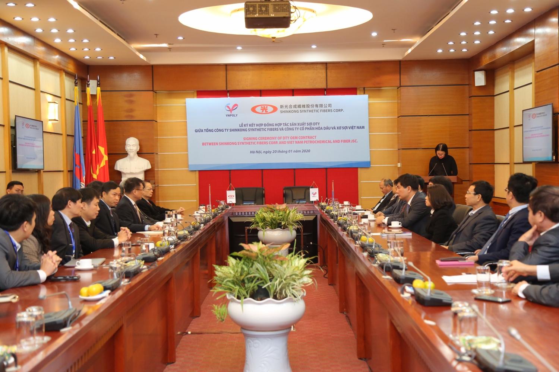 Lễ ký hợp đồng hợp tác sản xuất sợi DTY giữa VNPOLY và SSFC (Đài Loan)  - ảnh 1