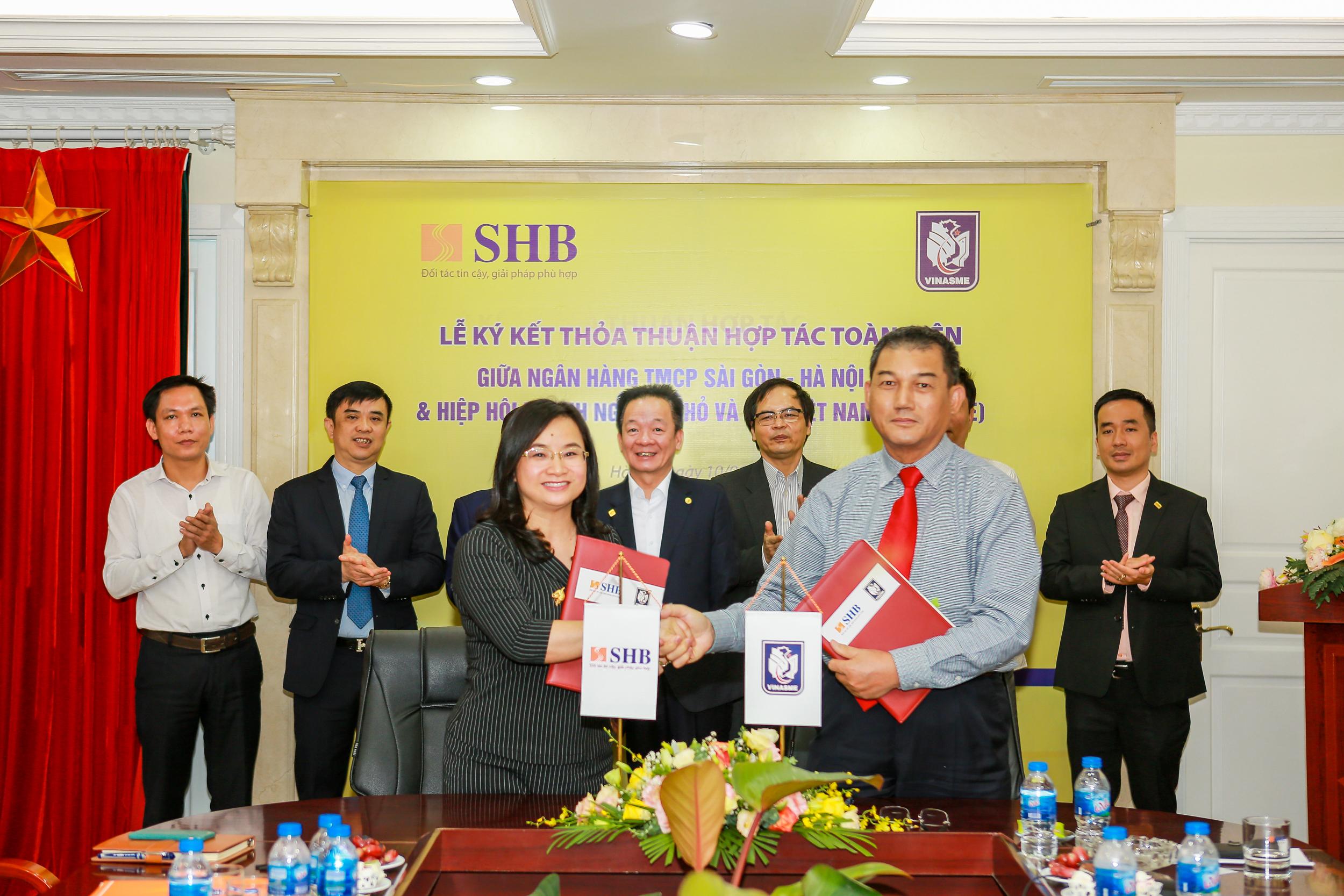 Đồng hành cùng các doanh nghiệp nhỏ và vừa, SHB hợp tác toàn diện với Vinasme - ảnh 1