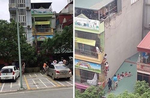Cháy trường mầm non ở Hà Nội, hàng chục cháu bé được sơ tán kịp thời - Ảnh 1
