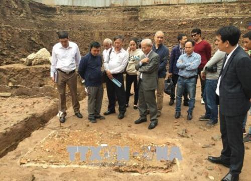 Phát hiện nhiều dấu tích kiến trúc các triều đại tại Hoàng thành Thăng Long - Ảnh 1