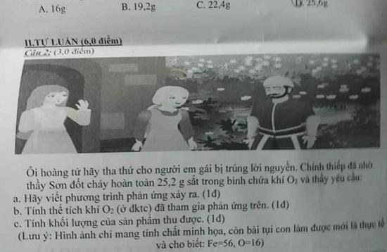 """Giáo viên dạy Hóa ra đề thi bắt trend """"hỡi hoàng tử"""" khiến học sinh """"dở khóc dở cười"""" - ảnh 1"""