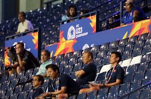 """Thầy Park đích thân """"xem giò"""" U23 Jordan và U23 Triều Tiên - ảnh 1"""