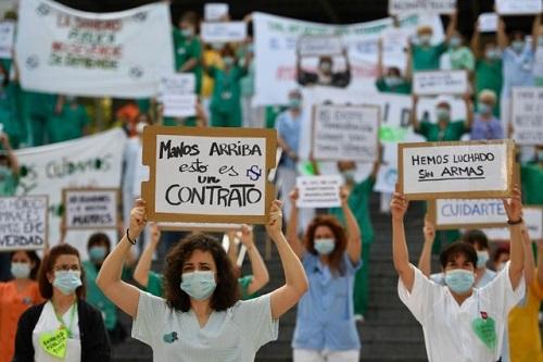Tình hình dịch virus corona ngày 26/5: Bác sĩ Tây Ban Nha đồng loạt biểu tình vì thiếu thiết bị bảo hộ - ảnh 1