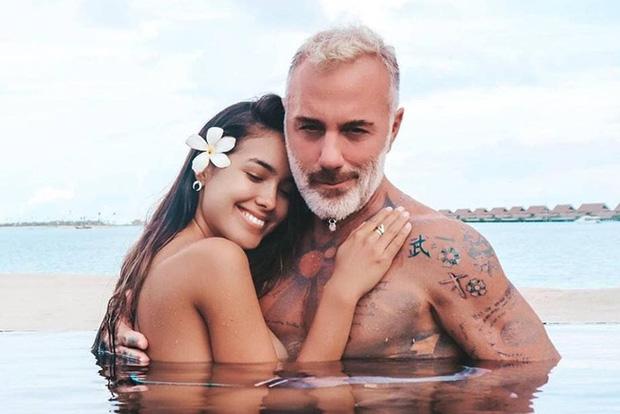 Triệu phú điển trai người Italy lại gây bão khi cùng bạn gái kém 27 tuổi vác bụng bầu nhảy TikTok siêu đáng yêu - ảnh 1
