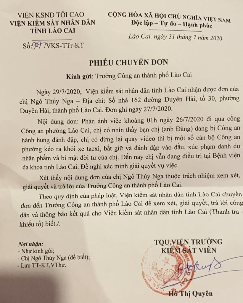 Thành phố Lào Cai: Cần làm rõ vụ việc công dân bị đánh đập trong trụ sở công an phường - ảnh 1