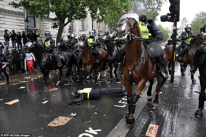 Anh: Nữ cảnh sát kỵ binh bị ngựa hất ngã dập phổi khi đối phó biểu tình - ảnh 1