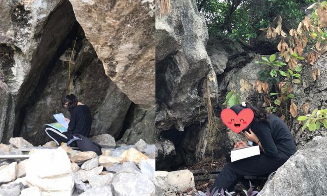 Đếm ngược ngày thi tốt nghiệp THPT Quốc gia 2020, nữ sinh vào khe núi ôn bài nước rút - ảnh 1