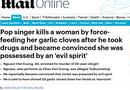 Tin thế giới - Báo nước ngoài đưa tin nghi án Châu Việt Cường 'ngáo đá', nhét tỏi vào miệng bạn gái gây tử vong