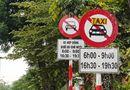 Không gỡ biển cấm taxi ở 11 tuyến phố tại Hà Nội