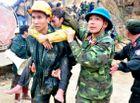 Xã hội - Nụ cười vỡ òa sung sướng của lực lượng cứu hộ nạn nhân vụ sập hầm