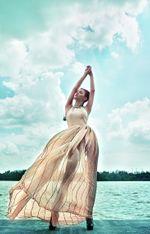 Thời trang & Làm đẹp - Thùy Trang Next Top diện váy dạ hội pha áo dài sexy