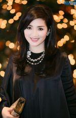 Ngôi Sao - Hoa hậu Giáng My nổi bật với váy đen hàng hiệu
