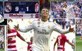 Real Madrid 9-1 Granada: Mình Ronaldo ghi 5 bàn