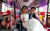 Xôn xao chú rể rước dâu bằng xe bus vì sợ tắc đường, kẹt xe