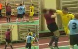 Cầu thủ futsal đấm thẳng mặt trọng tài vì bị rút thẻ đỏ