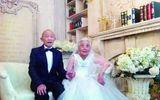 Cảm động vợ chồng già chụp ảnh cưới lần đầu sau 68 năm kết hôn