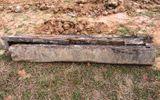 Phát hiện ngôi mộ cổ bằng thân cây thời Lê ở Hà Tĩnh