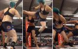 Hậu trường - Nữ võ sỹ xinh đẹp hạ gục đối thủ chỉ sau 1 giây