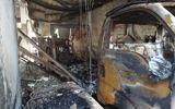 Sự kiện hàng ngày - Hai xe tải phát hỏa, xưởng kem cháy ra tro