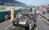 Tai nạn liên hoàn trên QL1A, 7 xe ô tô dính chặt vào nhau