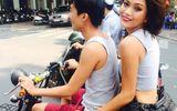 Ngôi Sao - Mâu Thủy đi xe đạp điện không đội mũ bảo hiểm