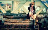 """Thời trang & Làm đẹp - Đồng Lan """"nổi loạn"""" với áo dài cách điệu và short ngắn"""