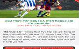 """""""Xem bóng đá trực tuyến 24/7"""" phiên bản mới dành cho di động"""