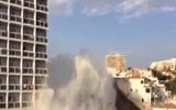 Cột nước 18 m như sóng thần do vỡ đường ống ở Tây Ban Nha