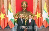 Chủ tịch nước Trần Đại Quang hội đàm với Tổng thống Myanmar