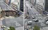 Khó tin hố tử thần dài 30m được sửa trong hai ngày ở Nhật