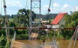 Xác định nguyên nhân vụ sập cầu treo Tà Lài, 4 người rơi xuống sông