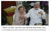 Đám cưới đầu tiên của cô dâu 80 tuổi với chú rể 95 tuổi