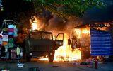 Hiện trường vụ cháy cây xăng ở TP HCM