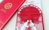 """Minh Hằng """"khoe"""" thiệp cưới của Trấn Thành và Hari Won"""