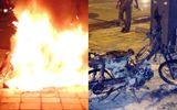 """Ghen tuông, nam thanh niên châm lửa đốt xe """"tình địch"""""""