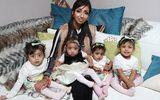 5 năm sảy thai 17 lần, cuối cùng cô gái này cũng được làm mẹ của 4 đứa trẻ