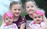 Hy hữu gia đình có 2 cặp song sinh cùng ngày sinh