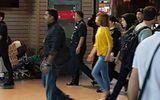 Đoàn Thị Hương thực nghiệm hiện trường ngay trước khi ra tòa