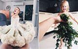 Cộng đồng mạng - Độc đáo bộ ảnh người mẹ dành tặng con gái bằng những loại rau củ thông thường