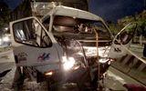 Ô tô tải đâm xe container, thi thể tài xế kẹt cứng trong cabin
