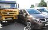 Tin trong nước - Dừng xe chờ đèn đỏ, 6 ô tô tông nhau liên hoàn trên đường Trường Chinh