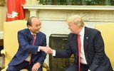 Hình ảnh Tổng thống Hoa Kỳ Donald Trump đón Thủ tướng Nguyễn Xuân Phúc